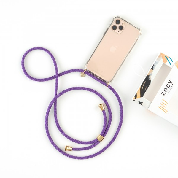 zoey sports   PURPLE ROPE   PHONE NECKLACE & CASE