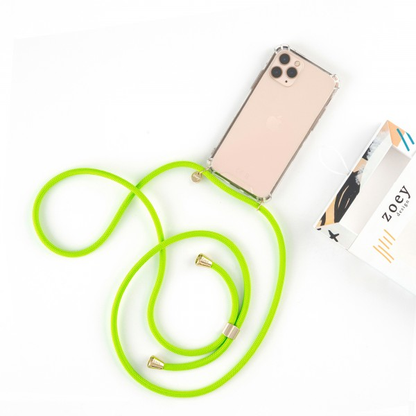 zoey sports | NEON GREEN ROPE | PHONE NECKLACE & CASE