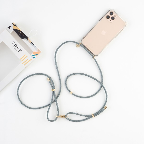 zoey exclusive | GREY LEATHER | PHONE NECKLACE & CASE