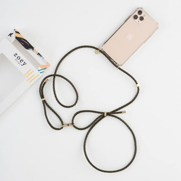 zoey exclusive | KHAKI LEATHER | PHONE NECKLACE & CASE