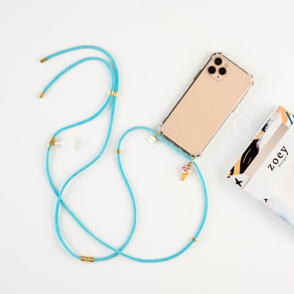 zoey fun | TURQUOISE CORD | PHONE NECKLACE & CASE