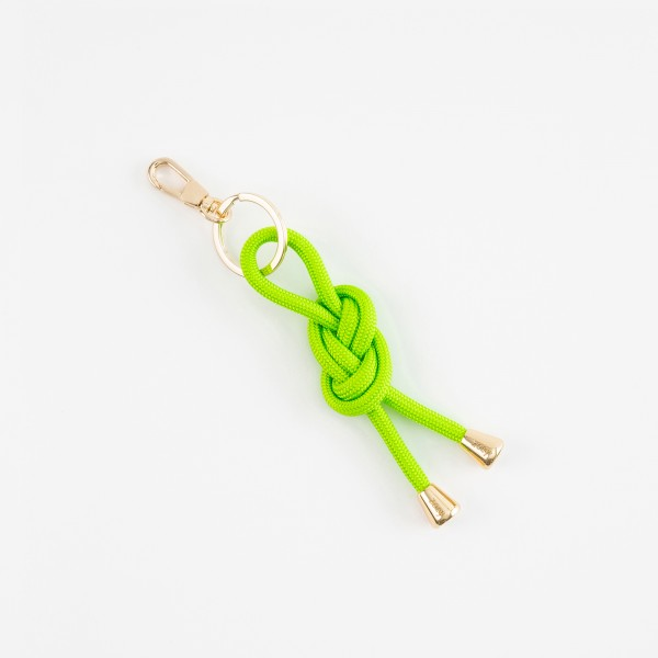 zoey sports   NEON GREEN ROPE   KEY CHAIN